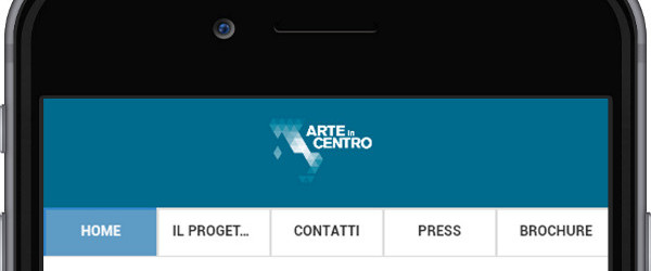 mobile app arte in centro home
