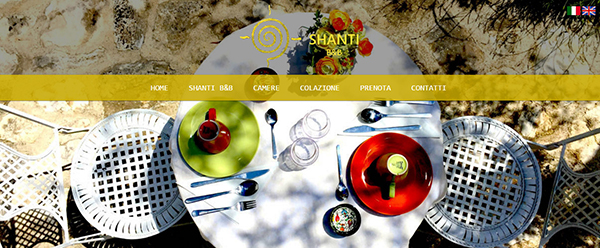 sito web responsive bb shanti bed and breakfast a vieste in gargano puglia