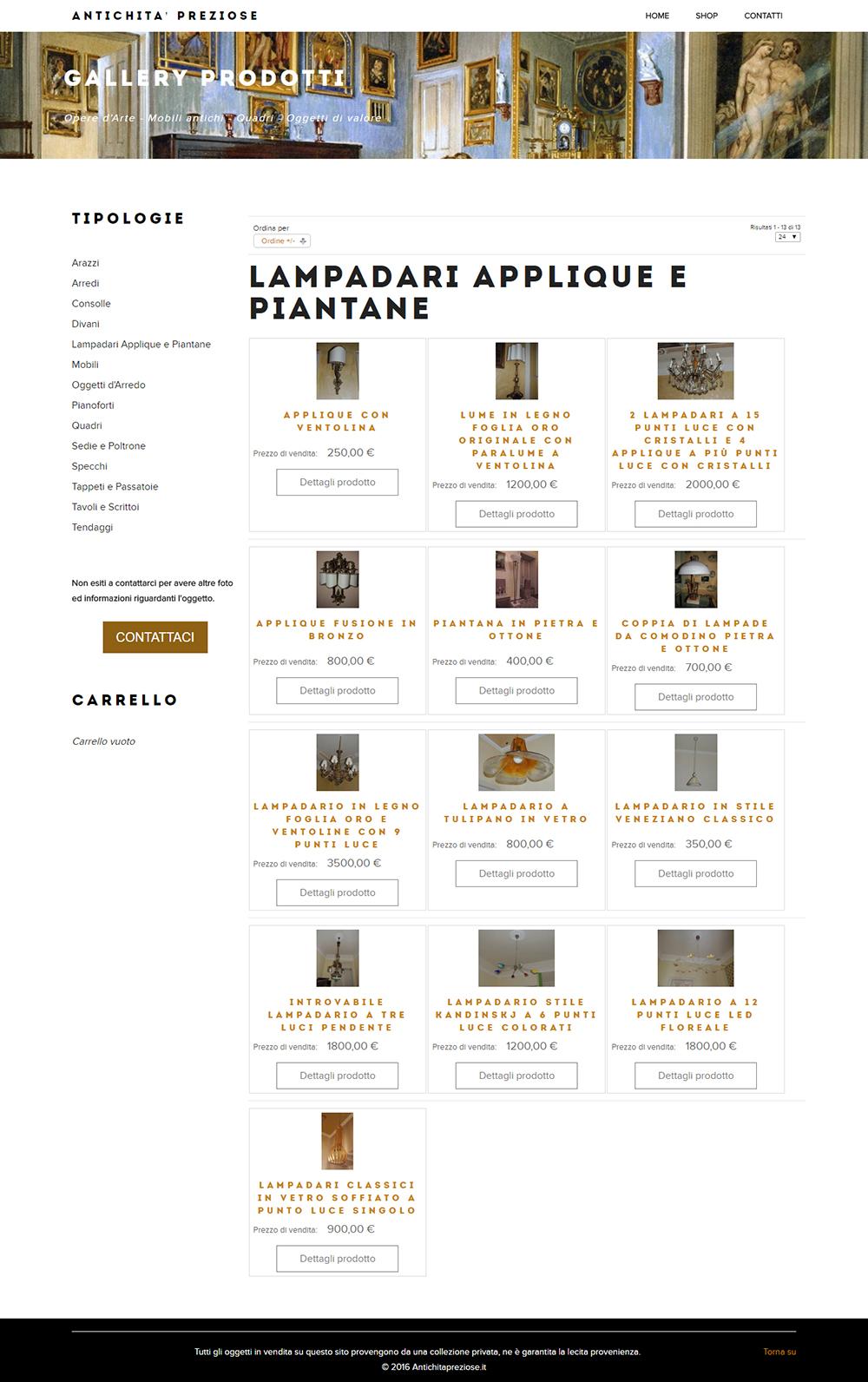 Vendita di mobili di antiquariato for Web mobili outlet