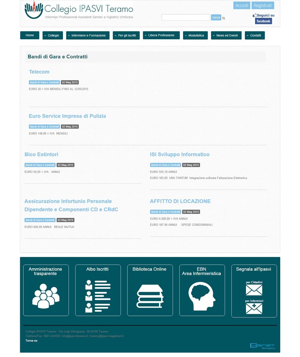 Collegio ipasvi di teramo for Siti web di costruzione domestica