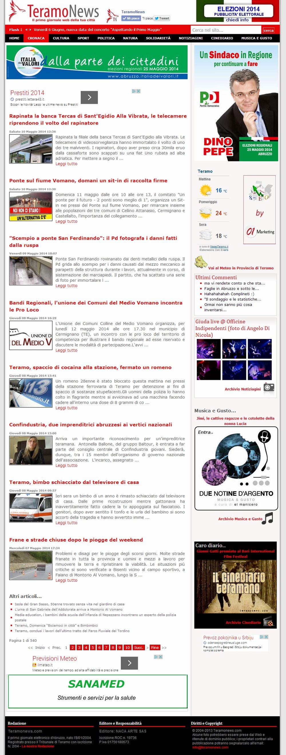 Teramonewscom Giornale Online Di Teramo E Provincia